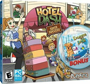 Hotel Dash Suite Success with Bonus Doggie Dash (PC./mac) *New,Sealed*