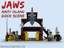 LEGO CUSTOM -- JAWS : AMITY ISLAND DOCK SCENE : CHIEF BRODY MATT HOOPER QUINT