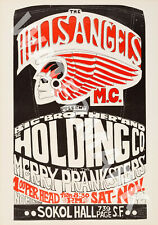 Big Brother & The Holding Company - Hells Angels - 1966 - Vintage Concert Poster