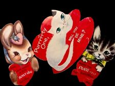 Vintage c1950s Lot Of Kitten Valentines Cards