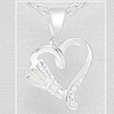 925 Sterling Silver Love To My Mum Pendant - Shuttlecock Heart