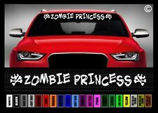 """40"""" Zombie Princess Funny Cute Gothic Car Decal Sticker Windshield Banner"""