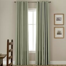 """Linden Street Jenner Cotton Grommet Thermal Curtain Lined Panel Sage 40x63"""" A102"""