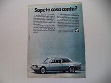 advertising Pubblicità 1981 BMW SERIE 3
