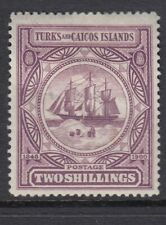TURKS & CAICOS 1900 2/- BADGE SG108 - Mounted mint