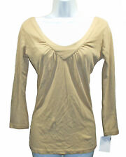 NEW Michael Stars Tan Camel Top One Size Long Sleeves