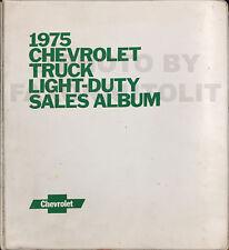 1975 Chevy Truck Dealer Sales Album Data Book Upholstery Pickup Van SUV Showroom