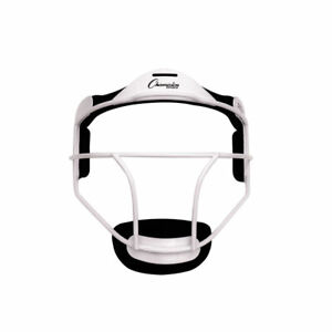Champion Sports Youth Softball Fielder's Metal Safety Face Mask/Guard, White