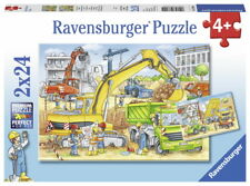 2 X 24 Teile Ravensburger Kinder Puzzle Viel zu tun auf der Baustelle 07800