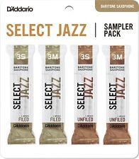 D'Addario Select Jazz Baritone Saxophone Reeds Sampler Pack 4 Reeds 2M 2H
