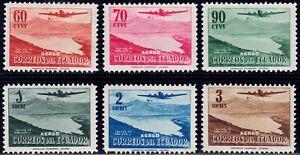 1954 Ecuador SC# C264-C269 - San Pablo Lagoon - M-HR