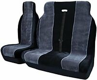 CITROEN RELAY (2007+) FABRIC BLACK + GREY VAN SEAT COVERS SINGLE & DOUBLE 2+1