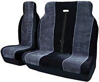 PEUGEOT BOXER (14 ON) FABRIC BLACK + GREY VAN SEAT COVERS SINGLE & DOUBLE 2+1