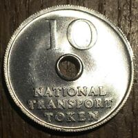 TOKEN JETON NATIONAL TRANSPORT TRANSPORTATION 10 CENTS (406)