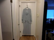 Soft Blue Mother of the Bride Dress with Jacket Beaded David's Bridal Sz 26