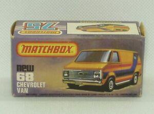Matchbox Lesney #68 Chevy Van Chevrolet Superfast Original Box Only