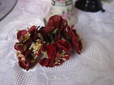 VELVET  BURGUNDY  BLOSSOM MILLINERY FLOWERS