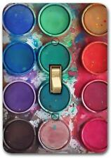 Dry Pan Watercolor Paint Cakes Metal Switch plate Wall Cover Lighting  SP698