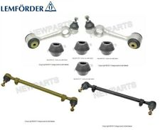 For Mercedes W116 Set of Front Upper Control Arms & Bushing+Steering Tie Rods