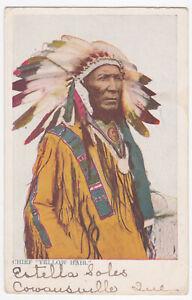 OLD 1906 POSTCARD OF INDIAN CHIEF YELLOW HAIR   DRAYTON ONTARIO CANADA