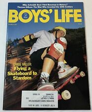 March 1989 BOYS LIFE ~ Skateboarder Chris Miller, Mike Schmidt, Thomas Edison...