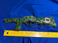 1960s VTG Toy Mighty Mego Guerilla Gun Army Tin Litho Japan Friction Rare Army