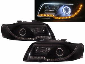 A4 A4/S4 B6 8E 01-05 4D/5D CCFL Projector R8Look Headlight Black for AUDI RHD