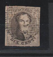 FRANCOBOLLI - 1850 BELGIO LEOPOLDO I° C.10 BRUNO Z/9379
