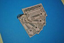 Tickets Fédération Colombophile Belge 1931 FCB Titre de propriété bague Pigeon