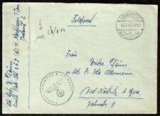 s1898) POSTA MILITARE feuerleitungsstab Peenemünde 1943 ABS LUCE flak-abt Z.