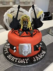 Edible Iron Maiden  Cake Decoration Cake Topper