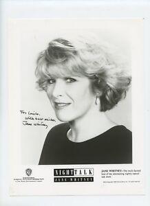 8 X 10 Autographié Photo Talk Show Host Jane Whitney