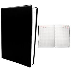 Kalender jahresunabhängig schwarz DIN A6 384 1 Seite = 1 Tag Handwerkerkalender