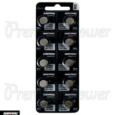 10 x Rayovac 394 batteries Silver Oxide 1.55V 380 SR936SW SR45 V394 Watch Swiss