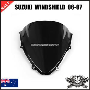 Double Bubble Windshield Windscreen Visor Suzuki GSXR 600/750 2006-2007 K6 black