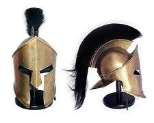 "KING LEONIDAS HELMET ROMAN SPARTAN ANTIQUE ""300"" MOVIE HELMET W/ BLACK PLUM"
