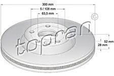 Front Axle Brake Discs 2pcs Fits FORD Mondeo Estate Hatchback Saloon 2007-