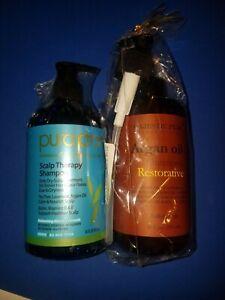 Pura'D'or Scalp Therapy Shampoo 16oz + Majestic Pure.  Argan Oil Shampoo 16oz