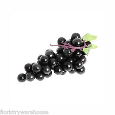Bunch of Artificial Black Grapes 18cm/7 Inches Long plus Stalk