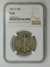 1921 S Walking Liberty Half Dollar NGC Graded VG 8 (603)