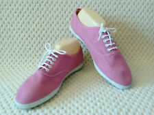 Original 1970s unisex / ladies pumps / trainers in pink by eurimco size 8