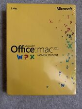 MS Microsoft Office MAC 2011 Home and Student Product Key Card - Factory Sealed