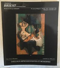 9 Briest Modern Contemporary Art Auction Catalogs lot 1990 French American