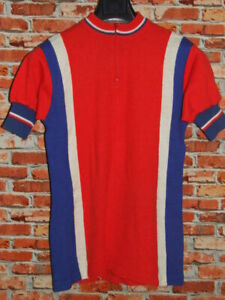 Shirt Bike Shirt Maillot Cycling Heroic Vintage 70'S 50% Lana