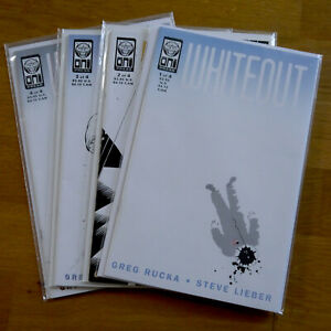 Whiteout issues 1, 2, 3, and 4 (1998) - Signed | Oni Press comics.