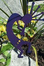 Kokopelli Purple glitter- southwestern garden yard lawn artw/ detachable stake