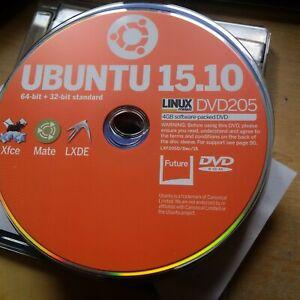 LINUX FORMAT MAG - DVD ROM 205 - Ubuntu 15.10 Xfce Mate LXDE 32 64 bit