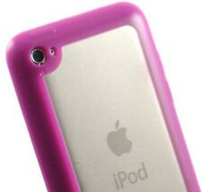 PINK CLEAR TPU GUMMY HARD/SOFT SKIN CASE COVER FOR APPLE iPOD TOUCH 4 4G 4TH GEN