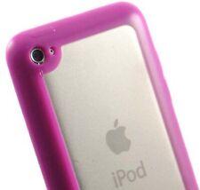 Rosa Klar TPU Gummierte Hart/Weich Hülle für Apple Ipod Touch 4 4g 4.