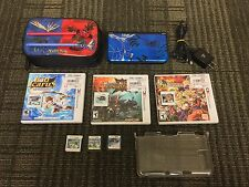 Nintendo 3DS XL Pokemon XY Theme Limited Edition Blue System Bundle + 6 Games